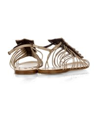 Roberto Cavalli | White Crocodile and Leather Sandals | Lyst