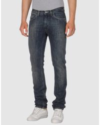 Acne Studios - Blue Denim Pants for Men - Lyst