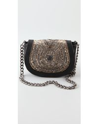Antik Batik | Black Aragon Embellished Leather Shoulder Bag | Lyst