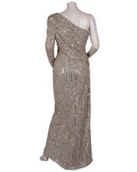 Eastland - Metallic One Shoulder Sequin Gown - Lyst