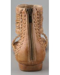 Frye - Brown Amelie Flat Sandals - Lyst