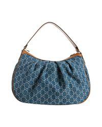 Gucci - Blue Sukey Hobo Bag - Lyst