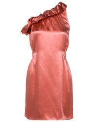 JOSEPH | Pink Asymmetric Frill Detail Dress | Lyst