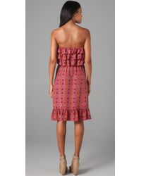 Rebecca Taylor | Pink Strapless Tiered Bombay Dress | Lyst