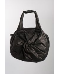 Sissi Rossi | Black Twist Front Bag in Nero | Lyst