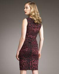 Dolce & Gabbana   Multicolor Leopard-print Ruched Dress   Lyst