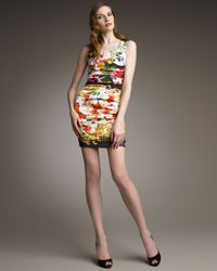 Dolce & Gabbana | Multicolor Majolica Print Brocade Dress | Lyst