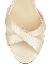 Alexandre Birman - Natural Python Slingback Sandals - Lyst