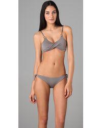 Rosa Cha | Gray String Bikini Bottoms | Lyst