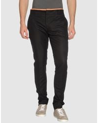 Alexander McQueen | Blue Single Crepe Contrast Waistband Trousers for Men | Lyst
