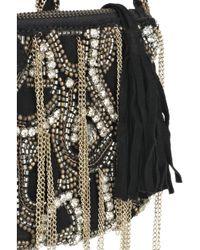 Antik Batik - Woven Embellished Satchel With Leather - Black - Lyst