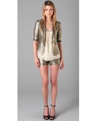 Elizabeth and James | Metallic Glenn Shorts | Lyst