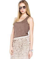 Michael Kors - Brown Michael Skinny Scarf Long Boyfriend Cardigan Ruffle Skirt - Lyst
