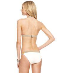 Michael Kors - Natural Belted Halter Bikini, Ecru - Lyst