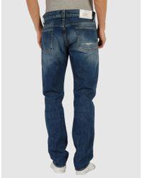 Stone Island - Blue Jeans Denim Used Slim Stretch for Men - Lyst