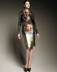 Alexander McQueen | Multicolor Harness Pencil Dress | Lyst