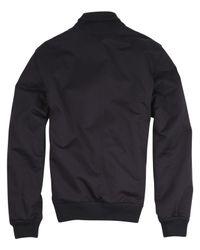 A.P.C. - Blue Navy Cotton Bomber Jacket for Men - Lyst