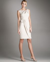 Armani | White Textured Bow Knot Dress | Lyst