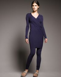 Donna Karan | Blue Jersey Leggings | Lyst