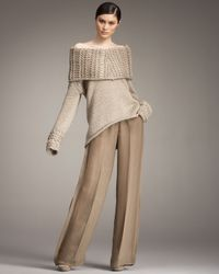 Donna Karan | Brown Sable Trousers | Lyst