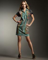 Etro | Black Border-print Shirtdress | Lyst