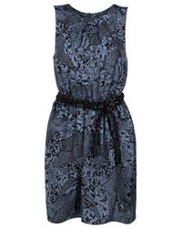 Gryphon | Blue Silk Animal-print Dress | Lyst