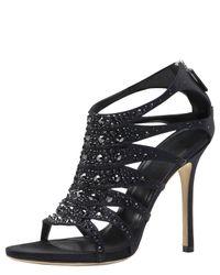 Gucci | Black Soraya Jeweled Sandal | Lyst