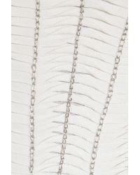 Hervé Léger | White Chain-embellished Bandage Mesh Dress | Lyst