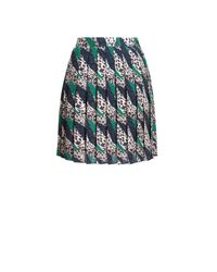 Jaeger - Multicolor Animal Print Pleat Skirt - Lyst