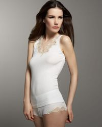 La Perla | White Tricot Lace-trim Boy Shorts | Lyst