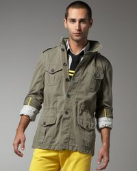 Michael Bastian | Green Washed Military Jacket for Men | Lyst