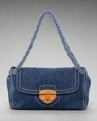 Prada | Blue Denim Shoulder Bag | Lyst
