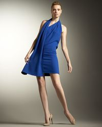 Stella McCartney - Blue Scarf Halter Dress, Cornflower - Lyst