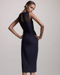 The Row | Black Sheer-yoke Bias Dress | Lyst