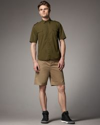 Tim Hamilton | Green Slim Cotton Shorts, Khaki for Men | Lyst