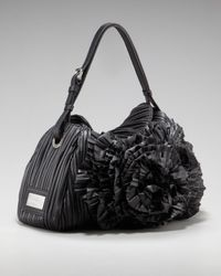 Valentino | Black Eco Leather Petal Hobo | Lyst