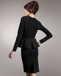 Valentino - Black Knit Godet-back Pencil Skirt - Lyst