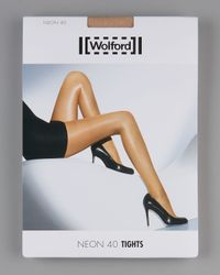 Wolford | Natural Neon 40 Glossy Tights | Lyst