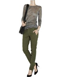 Zadig & Voltaire - Green Palais Cotton Cargo Pants - Lyst