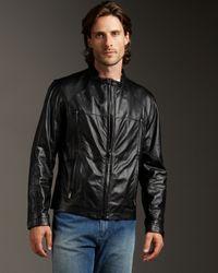 Zegna Sport | Black Leather Jacket for Men | Lyst