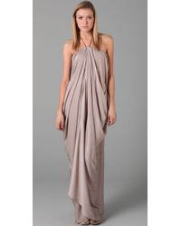 Acne Studios | Gray Delirious Draped Long Dress | Lyst