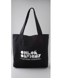 Opening Ceremony | Black Large Tote | Lyst