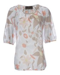 Fenn Wright Manson | Natural Lawn Matisse Flower Print Tunic Top Sorbet | Lyst