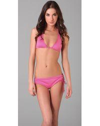 Tibi | Pink Drawstring Boy Short Bikini Bottoms | Lyst