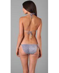 Zimmermann | Blue Purl Print Triangle Bikini | Lyst