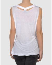 CoSTUME NATIONAL - White Sleeveless T-shirt - Lyst