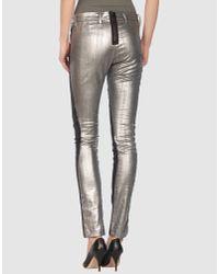 Acne Studios - Metallic Skin Panel Pants - Lyst