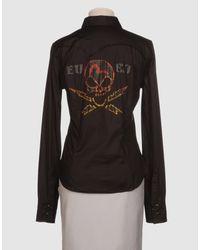 Evisu - Black Long Sleeve Shirt - Lyst