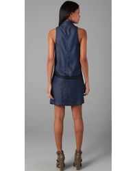 Helmut Lang - Purple Silky Wash Wrap Front Dress - Lyst