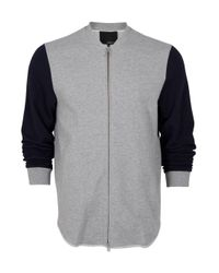 3.1 Phillip Lim | Gray Two Tone Zip Up Sports Jacket for Men | Lyst